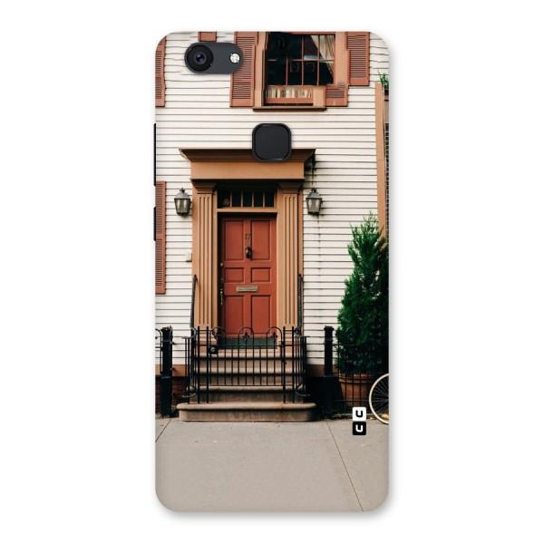 Pretty Orange Door Back Case for Vivo V7 Plus
