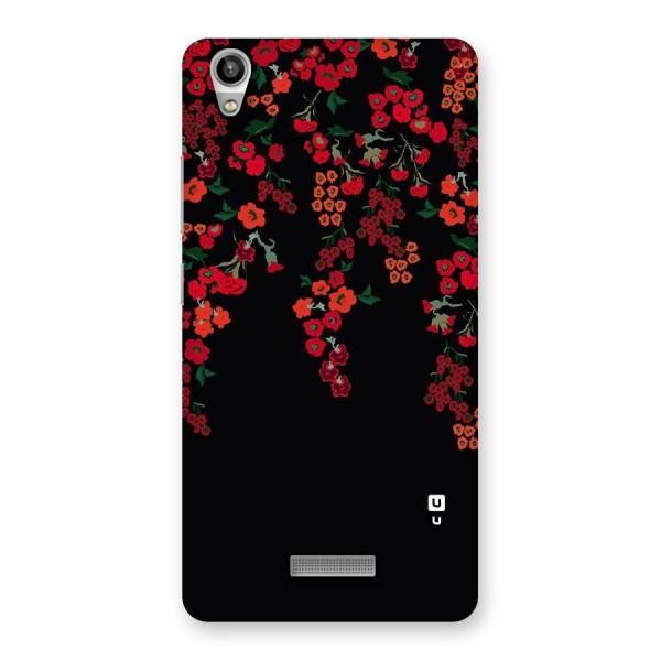 Red Floral Pattern Back Case for Lava-Pixel-V1