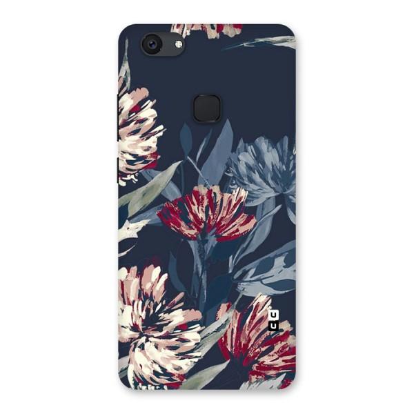 Red Rugged Floral Pattern Back Case for Vivo V7 Plus