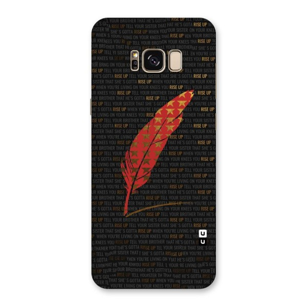 Rise Up Feather Back Case for Galaxy S8 Plus