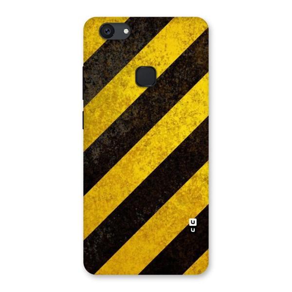 Shaded Yellow Stripes Back Case for Vivo V7 Plus