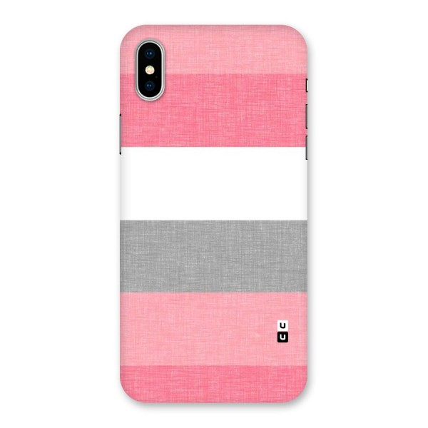 Shades Pink Stripes Back Case for iPhone X