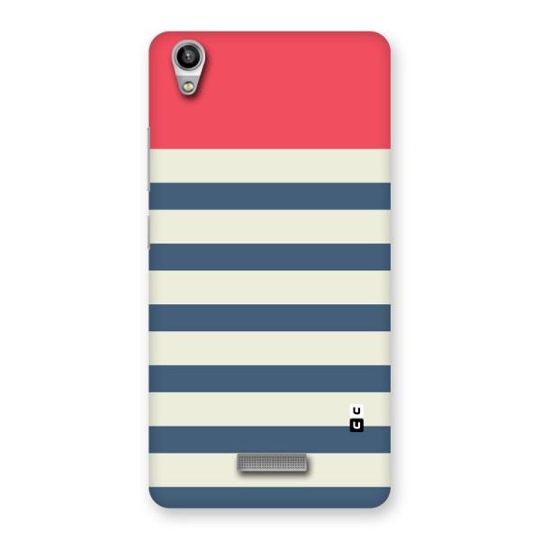 Solid Orange And Stripes Back Case for Lava-Pixel-V1