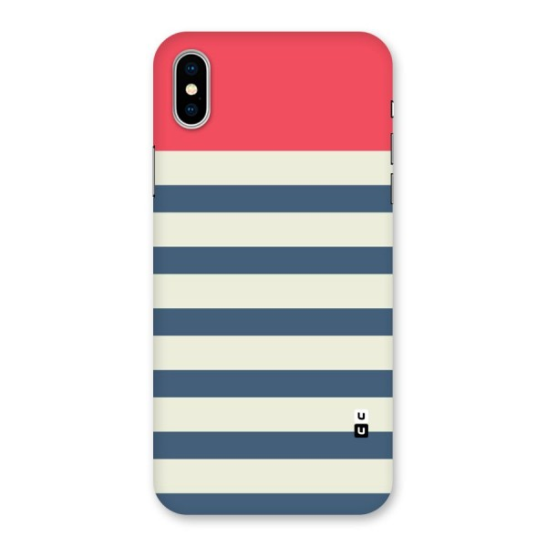 Solid Orange And Stripes Back Case for iPhone X