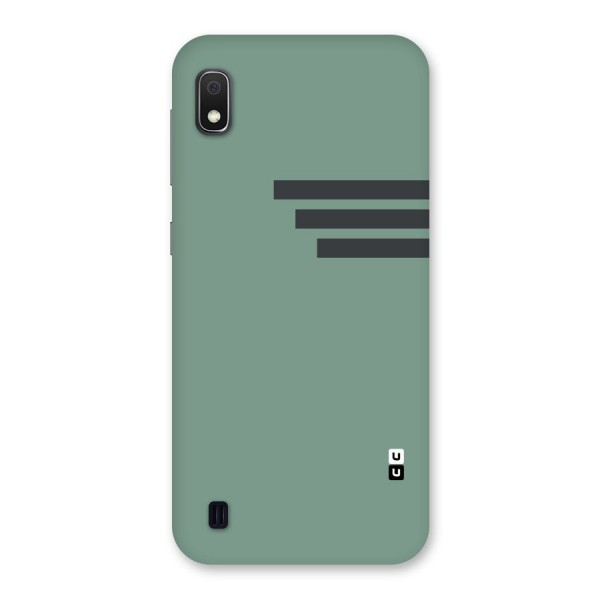 Solid Sports Stripe Back Case for Galaxy A10