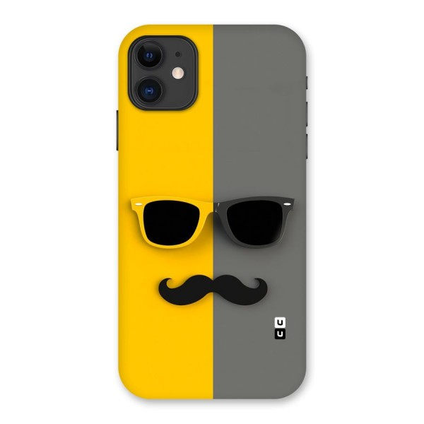 Sunglasses and Moustache Back Case for iPhone 11