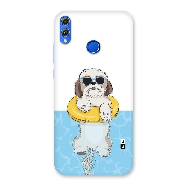 Swimming Doggo Back Case for Honor 8X