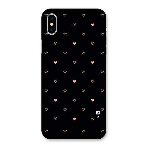 Tiny Little Pink Pattern Back Case for iPhone X