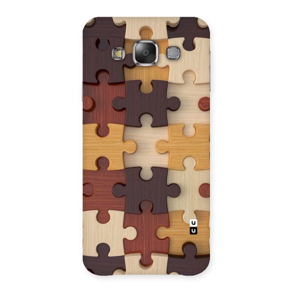 Wooden Puzzle (Printed) Back Case for Galaxy E7