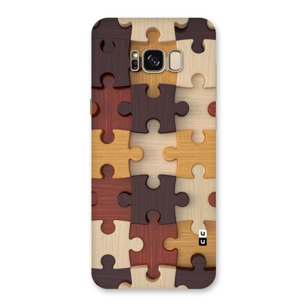 Wooden Puzzle (Printed) Back Case for Galaxy S8 Plus