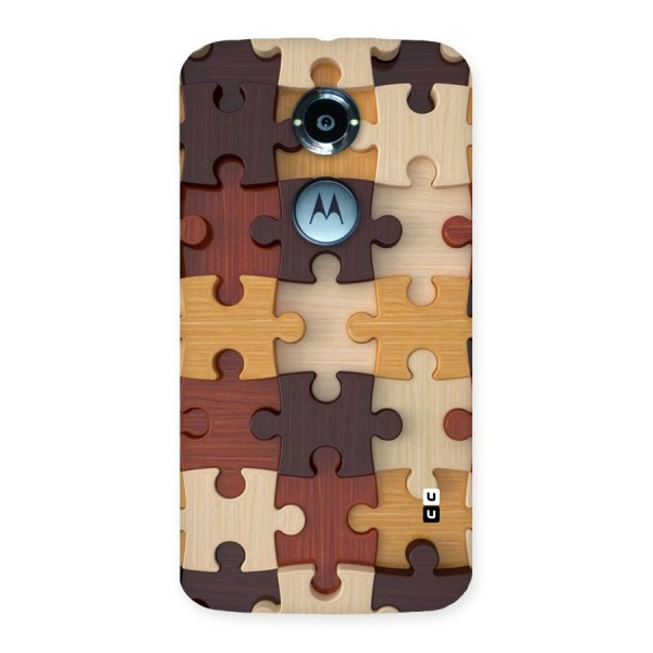 Wooden Puzzle (Printed) Back Case for Moto X 2nd Gen
