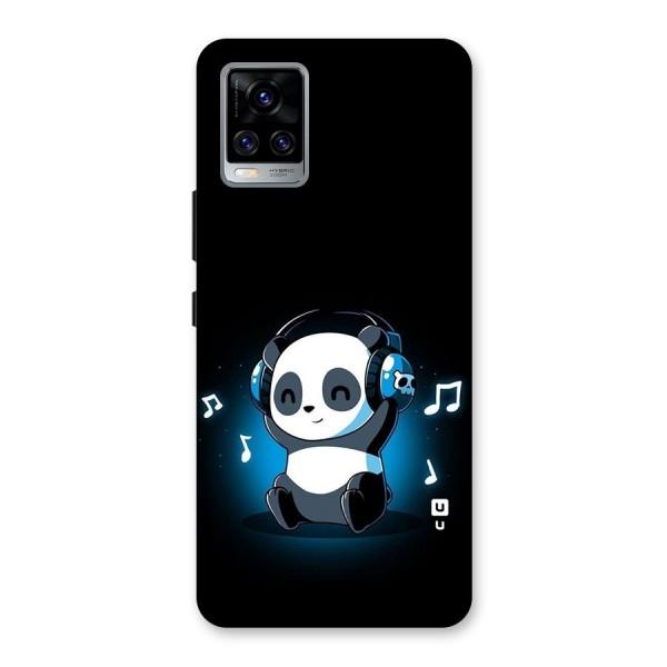 Adorable Panda Enjoying Music Back Case for Vivo V20 Pro