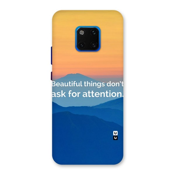 Beautiful Things Quote Back Case for Huawei Mate 20 Pro