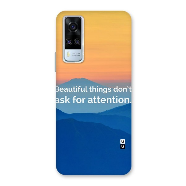 Beautiful Things Quote Back Case for Vivo Y51A