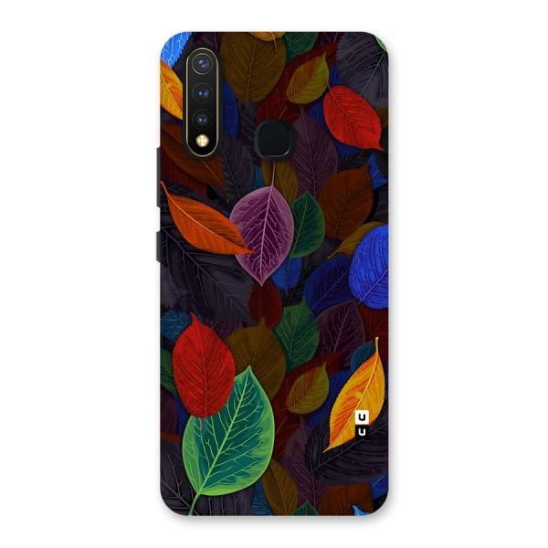 Colorful Leaves Pattern Back Case for Vivo U20
