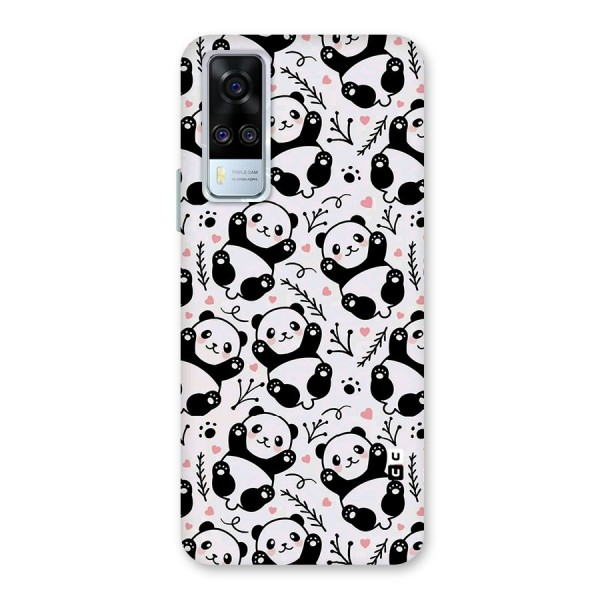Cute Adorable Panda Pattern Back Case for Vivo Y51A