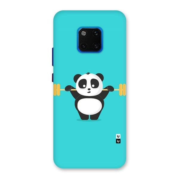Cute Weightlifting Panda Back Case for Huawei Mate 20 Pro