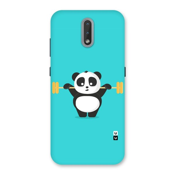 Cute Weightlifting Panda Back Case for Nokia 2.3