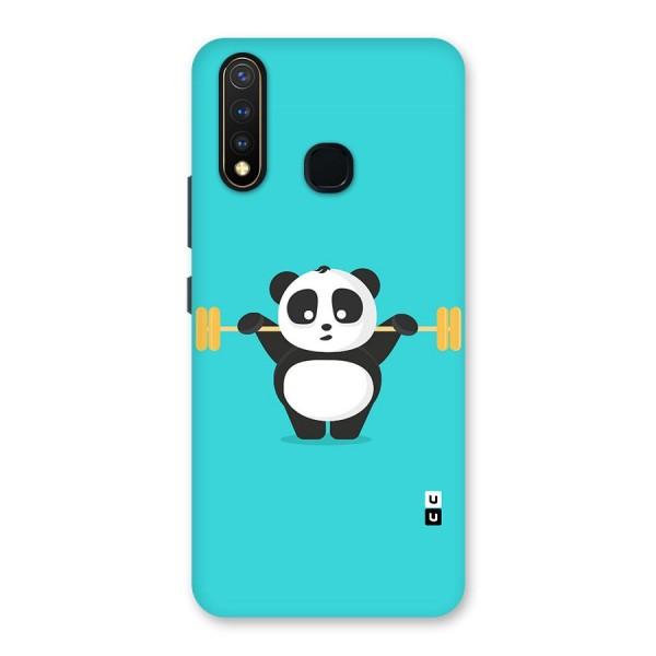 Cute Weightlifting Panda Back Case for Vivo U20