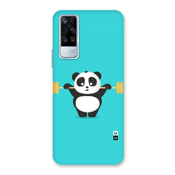 Cute Weightlifting Panda Back Case for Vivo Y51A
