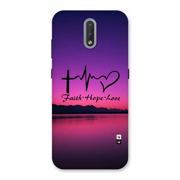 Faith Hope Love Evening Sky Back Case for Nokia 2.3