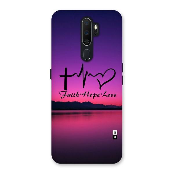 Faith Hope Love Evening Sky Back Case for Oppo A5 (2020)
