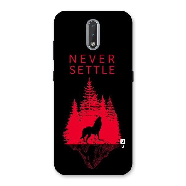 Never Settle Wolf Back Case for Nokia 2.3
