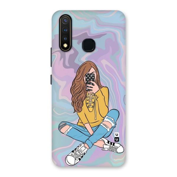 Selfie Girl Illustration Back Case for Vivo U20