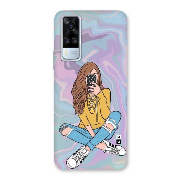 Selfie Girl Illustration Back Case for Vivo Y51A