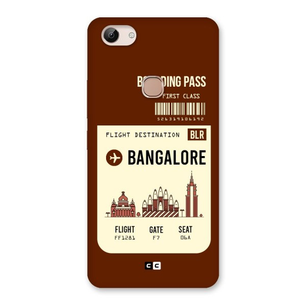 Bangalore Boarding Pass Back Case for Vivo Y83